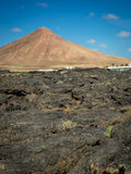 Lanzarote volcanic peak Royalty Free Stock Photo