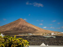 Lanzarote volcanic peak Royalty Free Stock Images