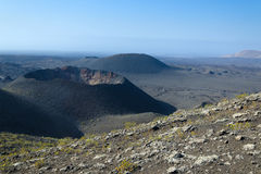 Lanzarote volcano crater Royalty Free Stock Photo