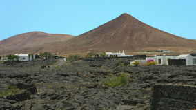 Lanzarote volcano and lava stock footage