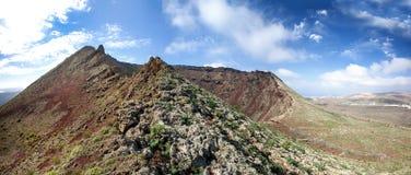 Lanzarote - Volcano Monte Corona Fotos de archivo libres de regalías