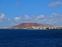 Lanzarote vom Boot Lizenzfreies Stockfoto
