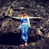 Lanzarote-Vulkan lizenzfreies stockbild