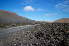 Lanzarote vulkaniskt landskap 002 Royaltyfria Foton