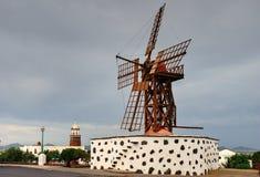 Lanzarote Windmolen Royalty-vrije Stock Fotografie