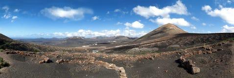 Lanzarote - winnicy los angeles Geria fotografia royalty free