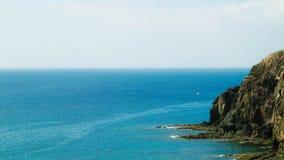 Lanzarote wyspy falezy obraz stock