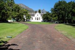 Lanzerac wine estate in Stellenbosch Royalty Free Stock Image