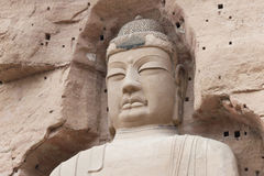 LANZHOU, CHINA - 30. SEPTEMBER 2014: Buddha-Statuen an Binglings-Höhle Te lizenzfreie stockbilder