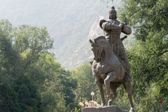 LANZHOU, CHINA - 29. SEPTEMBER 2014: Statue von Huo Qubing, Lanzhou, Gan Lizenzfreie Stockfotos
