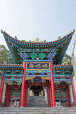 LANZHOU CHINY, SEP, - 29 2014: Mani świątynia przy wiosną Mountai Fotografia Royalty Free