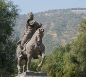 LANZHOU CHINY, SEP, - 29 2014: Statua Huo Qubing, Lanzhou, Gan Obraz Royalty Free