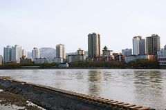 Lanzhou City. Baita Mountain, Yellow River Tieqiao, Lanzhou stock photos