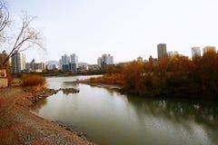 Lanzhou City. Baita Mountain, Yellow River Tieqiao, Lanzhou stock photo