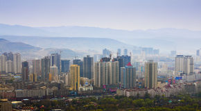 Lanzhou city building. S in gansu China Stock Photography