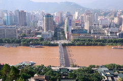 Lanzhou do centro Foto de Stock