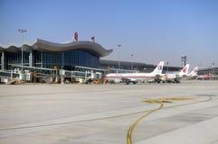 Lanzhou flygplats Royaltyfri Bild