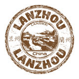Lanzhou grunge rubber stamp Royalty Free Stock Images
