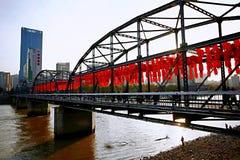 Lanzhou-Stadt stockfotografie