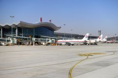 Lanzhouluchthaven Royalty-vrije Stock Afbeelding