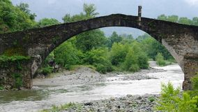 Lanzo Torinese Devils Bridge Stock Photos