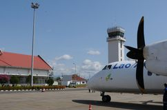 Lao Airline Airplaine no aeroporto de Pakse Foto de Stock