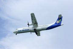 Lao airline, atr72-500. Landing at chingmai airport Royalty Free Stock Photo