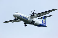 Lao airline, atr72-500 Royalty Free Stock Photos