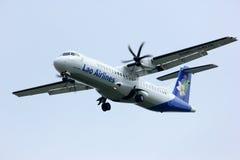 Lao airline, atr72-500. Landing at chingmai airport Royalty Free Stock Photos