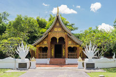 The lao antique architecture design pavilion Royalty Free Stock Images
