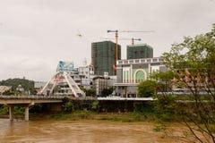 Lao Cai (Вьетнам) - Ha Khau (Китай), один из Китая - Вьетнам стоковое фото rf