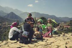 LAO CAI SAPA WIETNAM - NOV4,2017: północny vietname wzgórza plemię f obrazy stock
