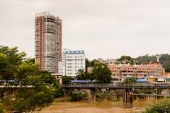 Lao Cai (Vietnam) - ha Khau (Chine), une de la Chine - Vietnam photographie stock libre de droits