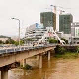 Lao Cai (Vietnam) - ha Khau (Cina), una della Cina - Vietnam immagini stock