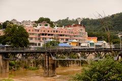 Lao Cai (Vietnam) - mummel Khau (Kina), en av Kina - Vietnam royaltyfri foto
