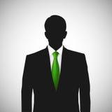 Laço desconhecido do verde do whith da silhueta da pessoa Fotografia de Stock Royalty Free