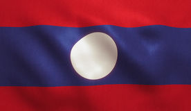 Lao Flag Stock Photo