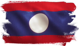 Lao Flag Stock Photography