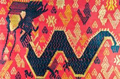 Lao folk textile dragon  Royalty Free Stock Images