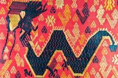 Lao folk textile dragon  Royalty Free Stock Images