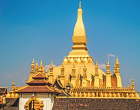 Lao golden stupa Royalty Free Stock Image