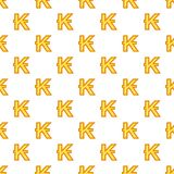 Lao kip currency symbol pattern, cartoon style. Lao kip currency symbol pattern. Cartoon illustration of lao kip currency symbol vector pattern for web Royalty Free Stock Images
