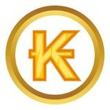 Lao kip vector icon Royalty Free Stock Photos