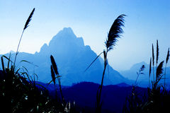 Lao Lanscape. The Lao Lanscape is Nature with More Mountain, River and The Old Vallage and The Old Town Stock Photos