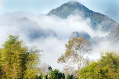 Lao mountain landscape Royalty Free Stock Image