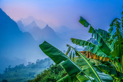 Lao mountains. Beautiful valley in mountains of northern Laos Stock Image