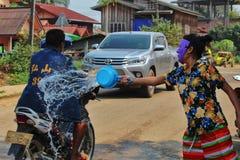Lao New Year berömmar Fotografering för Bildbyråer