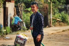 Lao New Year berömmar Royaltyfria Foton