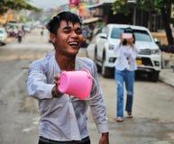 Lao New Year berömmar Royaltyfri Fotografi