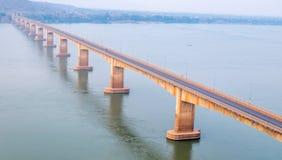 Lao Nippon Bridge in Pakse Laos. The Lao Nippon bridge across the Mekong River in Pakse Laos Royalty Free Stock Image
